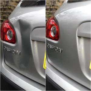 Large Dent Repair To Nissan Qashqai Tailgate
